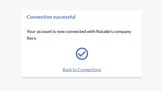 Connected to Natalie's company