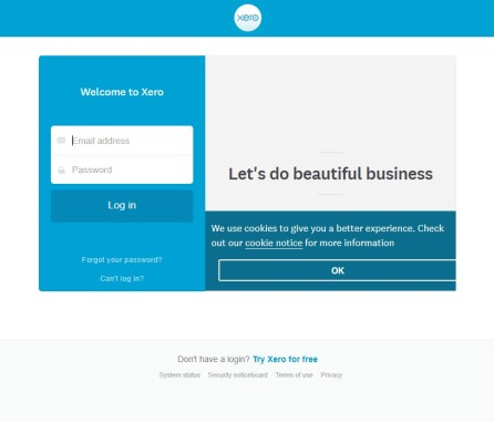 Login to Xero